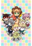 animal_costume blonde_hair carnival_phantasm character_request company_connection corn fate/stay_night fate/unlimited_codes fate_(series) green_eyes highres kinroh lion_costume melty_blood necoarc_babbles nekoarc nekoarc_babbles nekoarc_bubbles nekoarc_chaos nekoarc_destiny nekoarc_evolution saber_lion tsukihime type-moon