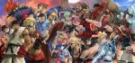 6+girls akuma anji_mito bad_id capcom chun-li crossover demitri_maximoff dizzy everyone gouki green_hair guilty_gear headband hibiki_dan i-no jiangshi johnny johnny_(guilty_gear) kasugano_sakura ken_masters kuradoberi_jam ky_kiske lei_lei lilith_aensland may may_(guilty_gear) morrigan_aensland multiple_boys multiple_girls pantyhose potemkin potemkin_(guilty_gear) purple_hair ryu ryuu_(street_fighter) shihira_tatsuya skirt slayer slayer_(dungeon_and_fighter) slayer_(guilty_gear) sol_badguy street_fighter sword vampire_(game) weapon yang yang_lee yun yun_lee
