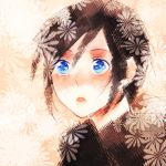 black_hair blue_eyes blush kingdom_hearts kingdom_hearts_358/2_days kisw2010 short_hair solo xion_(kingdom_hearts)