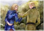 aph axis_powers_hetalia fight france_(hetalia) germany_(hetalia)