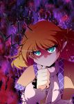 arm_warmers blonde_hair green_eyes mizuhashi_parsee pointy_ears scarf short_hair solo touhou