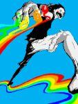 monkey_d_luffy one_piece rainbow spot_color trashme