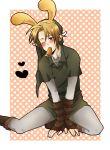 bad_id blush bunny_ears carrot gloves link male nintendo pointy_ears rabbit_ears the_legend_of_zelda wink