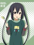 black_hair brown_eyes casual character_name ikari_manatsu k-on! long_hair nakano_azusa solo tears twintails