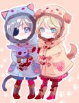 :3 alois_trancy blonde_hair blue_eyes blue_hair boots chibi ciel_phantomhive coat eyepatch kuroshitsuji multiple_boys short_hair yamada_ako