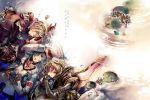2boys alvis armor blonde_hair fiorun flower lying mebu mechanical_wings multiple_boys short_hair shulk sleeping spoilers vest wings xanthe xenoblade