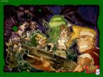 4boys alien assault_rifle baseball_cap blonde_hair brown_hair chibi clark_still everyone fio_germi grenade_launcher gun hat highres kasamoto_eri marco_rossi mars_people metal_slug multiple_boys multiple_girls muscle official_art ralf_jones ray_gun revolver rifle senno_aki snk sunglasses sv001(metalslug) sv001_(metalslug) underbarrel_grenade_launcher wallpaper weapon