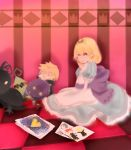 alice_(wonderland)_(cosplay) alice_in_wonderland axel blonde_hair blue_eyes cosplay drawing heartless kingdom_hearts kingdom_hearts_358/2_days namine roxas teiruzukingudamu xion_(kingdom_hearts)