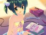 blush book green_eyes green_hair hiiragi_noa mm! ohara_tometa short_hair