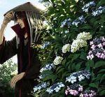 black_hair flower hat hydrangea lily_(artist) male nail_polish naruto ring solo uchiha_itachi