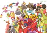 blue_eyes claydol crobat drapion dunsparce dusknoir electivire everyone farfetch'd farfetch'd flygon gallade granbull highres hitmontop kangaskhan kecleon kingdra leafeon ledian lopunny lucario magyo manectric miltank mr._mime no_humans pink_eyes pokemon politoed red_eyes sableye sandslash sceptile scizor slowbro spring_onion steelix weavile