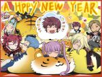 asbel_lhant cheria_barnes hubert_ozwell lowres malik_caesars new_year pascal richard_(tales_of_graces) sophie_(tales_of_graces) stuffed_animal tales_of_graces tiger