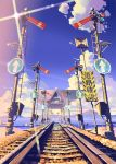 artist_request bad_id cloud clouds no_humans railroad_signal railroad_tracks road_sign scenery sign tokyo_big_sight vania600 water