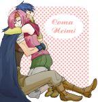 coma eyes_closed fire_emblem fire_emblem:_seima_no_kouseki hug mokoko_(m753) neimi smile