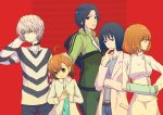 4girls accelerator accelerator_family ahoge albino black_hair blue_eyes brown_eyes brown_hair cast choker color dress frown jersey labcoat last_order long_hair long_sleeves misaka_worst multiple_girls pants polka_dot polka_dot_dress ponytail red_eyes shirt short_hair side_slit simple_background smile striped striped_shirt to_aru_majutsu_no_index track_suit vietnamese_dress white_hair yomikawa_aiho yoshikawa_kikyou