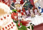 :> :/ :d :o ^_^ against_glass apron arms_up bat_wings blonde_hair blurry blush_stickers bobby_socks book bow bowtie braid brooch cake carrying chair cherry chin_rest china_dress chinese_clothes closed_eyes cookie crescent cup cupcake curtains demon_tail depth_of_field dutch_angle elbow_gloves emerane falling fangs flandre_scarlet floating food frills fruit full_moon gloves hair_bow hand_on_own_cheek happy hat hat_bow hat_removed hat_ribbon head_wings headwear_removed high_heels highres hong_meiling icing izayoi_sakuya jewelry kirisame_marisa kneehighs koakuma long_hair maid maid_headdress mary_janes merutoreimu minigirl moon multiple_girls night night_sky open_book open_mouth patchouli_knowledge plate pocket_watch pointing purple_eyes purple_hair reading red_eyes red_hair red_moon redhead remilia_scarlet ribbon saucer shoes short_hair shoulder_carry side_slit sitting skirt skirt_set sky smile socks star star_(sky) starry_sky strawberry sweets table tail teacup teapot the_embodiment_of_scarlet_devil touhou tray twin_braids very_long_hair vest violet_eyes waist_apron watch white_gloves white_legwear window wings wink witch_hat wrist_cuffs