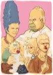 bart_simpson deny_(dentenbros) family homer_simpson lisa_simpson maggie_simpson marge_simpson middle_finger realistic the_simpsons