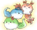 chibi cosplay ex-keine fujiwara_no_mokou fujiwara_no_mokou_(cosplay) hat horn_ribbon horns kamishirasawa_keine kamishirasawa_keine_(hakutaku) rebecca_(keinelove) rebecca_(naononakukoroni) ribbon sukusuku_hakutaku touhou