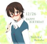 brown_hair character_name happy_birthday ikari_manatsu k-on! manabe_nodoka pen solo