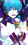 1boy bad_id blue_hair food gloves headset ice_cream kaito khj male short_hair solo star vocaloid