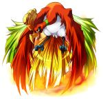 highres ho-oh no_humans pokemon pokemon_(creature) seiryu_keita simple_background