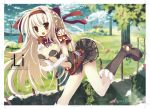 blonde_hair breasts cleavage creator female ragnarok_online skirt uraran