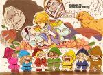 animal antonio_lopez apple barnaby_brooks_jr cape cis_(tiger_&_bunny) cosplay dog food fruit hand_holding hat holding holding_apple holding_fruit holding_hands huang_baoling ivan_karelin john_(tiger_&_bunny) kaburagi_t_kotetsu karina_lyle keith_goodman mirror mozuwaka nathan_seymour parody partially_translated saitou_(tiger_&_bunny) snow_white_(cosplay) snow_white_(grimm) snow_white_and_the_seven_dwarfs tears tiger_&_bunny translation_request