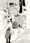 bouquet cape chiyo_(chidori) church comic diego_brando flower hot_pants_(sbr) jojo_no_kimyou_na_bouken monochrome nun steel_ball_run translation_request