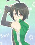 ahoge bakugan bakugan_battle_brawlers black_hair fingerless_gloves gloves kazami_shun