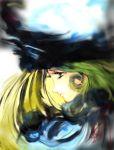 blonde_hair blue_eyes face fur_hat ginga_tetsudou_999 hat long_hair maetel solo