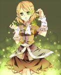 arm_warmers bad_id blonde_hair detached_sleeves dress green_eyes mizuhashi_parsee touhou tsukioka_tsukiho