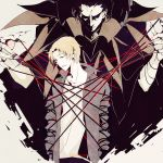 bad_id caster_(fate/zero) claws fate/zero fate_(series) high_contrast jacket male marionette multiple_boys orange_hair pale_color pale_colors shadow string uryuu_ryuunosuke zmore