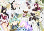 ahri akali alternate_costume amumu animal_ears annie annie_hastur blush box breasts caitlyn_(league_of_legends) cleavage fantasy fizz_(league_of_legends) fox_ears game garen garen_crownguard hairband heimerdinger janna_windforce katarina_du_couteau knife large_breasts league_of_legends long_hair lux luxanna_crownguard magic makishima_rin nurse open_mouth pointy_ears riven_(league_of_legends) shaco sona sona_buvelle staff syringe tibbers volibear weapon