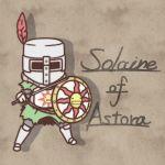 character_name chibi dark_souls full_armor fushigi_ebi helmet shield solaire_of_astora solo sun_(symbol) sword visor_(armor) weapon