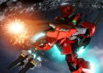 argama bazooka gun gundam mecha rick_dias robographer space star weapon zeta_gundam
