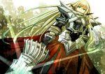 ao_no_kiseki arianrhod armor armored_dress beartoris blonde_hair braid dress eiyuu_densetsu falcom gloves green_eyes long_hair pauldron pauldrons solo sword weapon