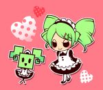 1girl ghost-pepper green_hair maid maid_headdress manera nintendo paper_mario personification super_paper_mario twin_drills