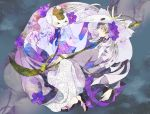 3355_(kpo) blonde_hair flower glasses male mask multiple_boys naginata natori_shuichi natsume_takashi natsume_yuujinchou nyanko polearm weapon