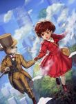 dress flying formal ghibli lewmus mimi_wo_sumaseba open_mouth short_hair smile studio_ghibli the_baron tsukishima_shizuku