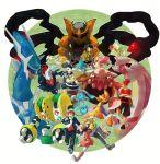 4boys alternate_costume azelf baku_(pokemon) beanie cresselia darkrai dialga diamond_(pokemon) giratina grin handsome_(pokemon) hat heatran highres hikari_(pokemon) hikari_(pokemon)_(remake) holding holding_poke_ball jun_(pokemon) kouki_(pokemon) kouki_(pokemon)_(remake) mai_(pokemon) manaphy mesprit multiple_boys multiple_girls palkia pearl_(pokemon) phione platinum_berlitz poke_ball pokemon pokemon_(creature) pokemon_(game) pokemon_dppt pokemon_special regigigas rotom scarf shaymin skyloop19 smile uxie winter_clothes