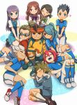 3girls 6+boys black_hair blue_eyes blush brown_eyes brown_hair closed_eyes endou_mamoru goggles gouenji_shuuya grey_hair hair_ornament hairclip hairlocs harem hato_niku headband highres inazuma_eleven inazuma_eleven_(series) kazemaru_ichirouta kidou_yuuto kino_aki kiyama_hiroto kudou_fuyuka long_hair mixed_harem multiple_boys multiple_girls open_mouth ponytail purple_hair raimon_natsumi redhead smile sweat tachimukai_yuuki utsunomiya_toramaru yaoi