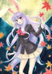 acrylic_paint_(medium) animal_ears bad_id blazer bunny_ears long_hair necktie purple_hair rabbit_ears red_eyes reisen_udongein_inaba solo touhou traditional_media