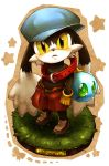 buckle character_name hat huepow kaze_no_klonoa klonoa looking_at_viewer makino_sora shorts solo standing star yellow_eyes