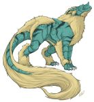 arcanine claws fusion horn nidoqueen no_humans pokemon pokemon_(game) solo