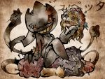 banette character_name fine_art_parody head highres nihonga no_humans parody pin pokemon pokemon_(creature) pokemon_(game) pokemon_rse shimanoko