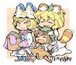 cat_ears cat_tail chen hounori kemonomimi_mode multiple_tails raccoon_ears raccoon_tail tail touhou yakumo_ran yakumo_yukari