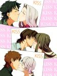 3girls black_hair brown_hair claudia_hortensia claudia_ortensia closed_eyes couple emiya_kiritsugu eyes_closed facial_hair fate/zero fate_(series) goatee green_hair husband_and_wife incipient_kiss irisviel_von_einzbern kiss kotomine's_wife kotomine's_wife kotomine_kirei long_hair multiple_boys multiple_girls shou_(paix) stubble tohsaka_aoi tohsaka_tokiomi toosaka_aoi toosaka_tokiomi white_hair