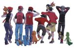 6boys baseball_cap black_hair brown_hair charmander chimchar cyndaquil gloves gold_(pokemon) gold_(pokemon)_(classic) hat hiyokko_ep kouki_(pokemon) kouki_(pokemon)_(classic) multiple_boys naos pokemon pokemon_(game) pokemon_dppt pokemon_frlg pokemon_gsc pokemon_hgss pokemon_rgby pokemon_rse red_(pokemon) red_(pokemon)_(classic) red_(pokemon)_(remake) scarf smile squirtle totodile treecko yuuki_(pokemon) yuuki_(pokemon)_(classic)