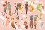 6+girls alternate_costume bel_(pokemon) bowtie cattleya_(pokemon) cheren_(pokemon) chibi coat corn_(pokemon) couple dent_(pokemon) ducklett eating emolga flower fuuro_(pokemon) gloves gothita hair_ornament heart highres kamitsure_(pokemon) kokuran_(pokemon) kumatani lillipup minccino multiple_boys multiple_girls munna musical_note n_(pokemon) oshawott panpour pansage pansear pantyhose pod_(pokemon) pokemon pokemon_(game) pokemon_bw purrloin scarf snivy snowman solosis speech_bubble spoken_heart star team_plasma team_plasma_grunt tepig touko_(pokemon) touya_(pokemon) zorua