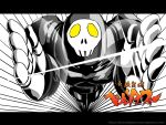 black hei_jin male muscle parody persona persona_4 skull solo style_parody take-mikazuchi tengen_toppa_gurren_lagann yellow_eyes